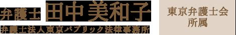 弁護士 田中美和子 弁護士法人東京パブリック法律事務所 東京弁護士会所属